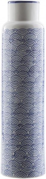 Iona Traditional Navy Ivory Cobalt Ceramic Table Vase -4.53 x 4.53 ION816-L