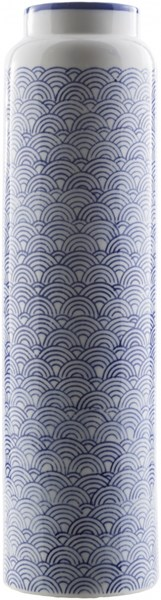 Iona Traditional Navy Ivory Cobalt Ceramic Table Vase -3.94 x 3.94 ION816-M