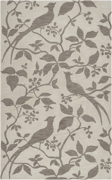 Impressions Ivory Taupe Polyester Area Rug - 60 x 90 IPR4002-576