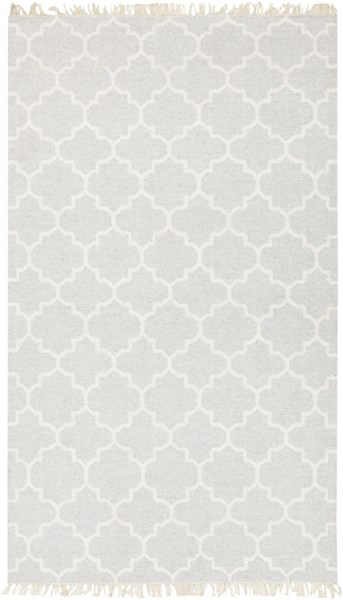 Isle Light Gray Ivory Viscose Wool Area Rug - 60 x 90 ISL3000-576