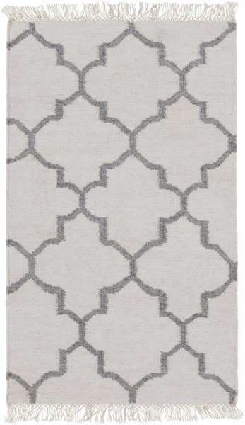 Isle Contemporary Ivory Charcoal Viscose Wool Area Rugs 12765-VAR1