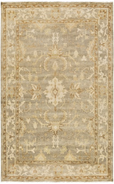 Istanbul Light Gray Lime Olive New Zealand Wool Area Rug - 66 x 102 IST1001-5686