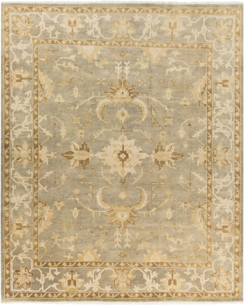 Istanbul Light Gray Lime Olive New Zealand Wool Area Rug - 96 x 120 IST1001-810
