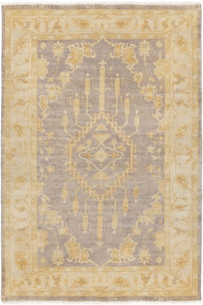 Istanbul Traditional Gray Lime Charcoal Wool Area Rugs 1860-VAR1