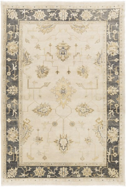 Istanbul Traditional Beige Forest Olive Wool Area Rugs 1861-VAR1