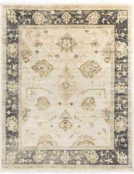 Istanbul Beige Forest Olive New Zealand Wool Area Rug - 96 x 120 IST1003-810