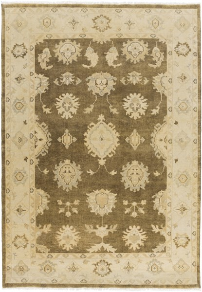 Istanbul Traditional Olive Beige Gold Wool Area Rugs 1862-VAR1