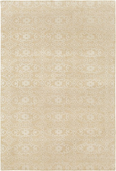 Ithaca Contemporary Light Gray Olive Fabric Area Rug (L 108 X W 72) ITH5001-69