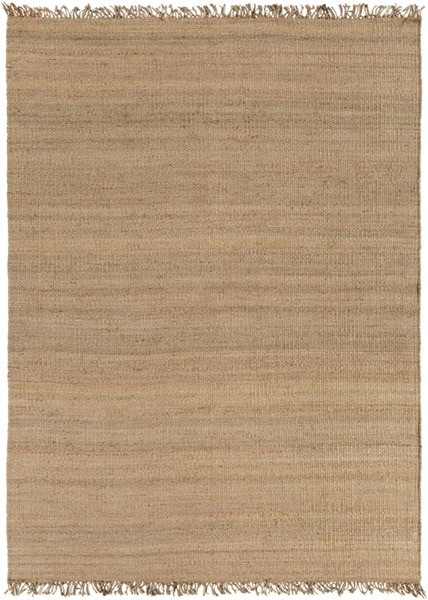 Contemporary Beige Fabric Hand Woven Area Rug J-811