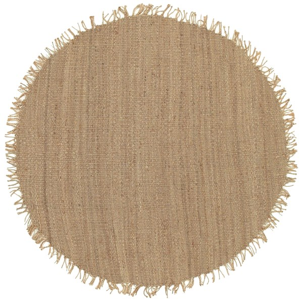 Jute Natural Beige Round Area Rug - 96 x 96 J-8RD