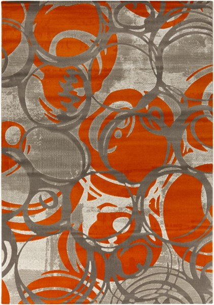 Jax Modern Orange Olive Gray Polypropylene Area Rugs 12786-VAR1