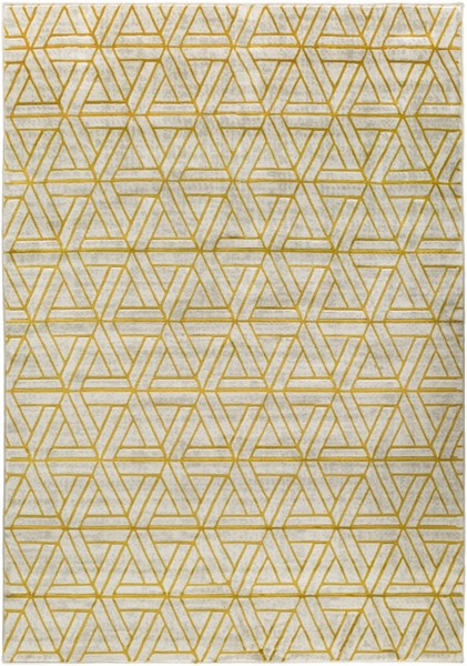 Jax Contemporary Gray Gold Olive Polypropylene Area Rugs 14569-VAR1