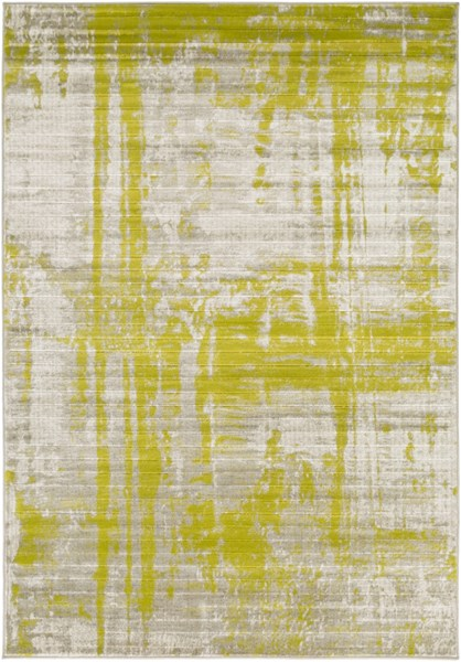 Jax Modern Gray Lime Olive Polypropylene Power Loomed Area Rug JAX5031-5276