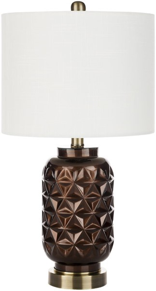 Surya Jet Dark Brown Glass Table Lamp - 11.5x20 JET-002