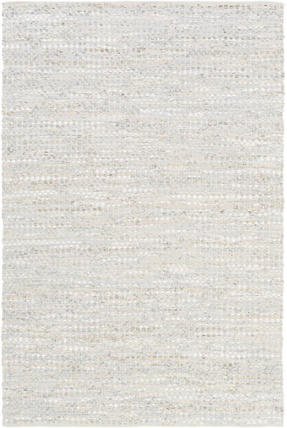 Surya Jamie Ice Blue Sage Cotton Leather Area Rug - 156x108 JMI8005-913