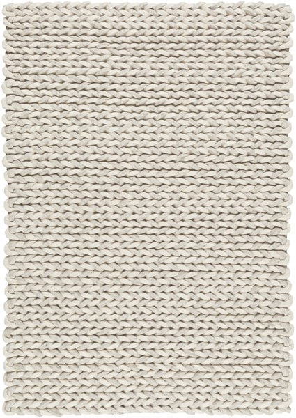 Juno Ivory Light Gray Wool - Felted Area Rug - 24 x 36 JNO1002-23