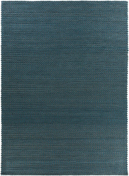 Juno Teal Charcoal Wool - Felted Area Rug - 96 x 132 JNO1004-811