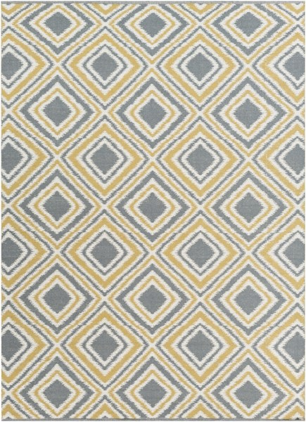 Juniper Ivory Charcoal Gold Wool Area Rug - 96 x 132 JNP5006-811