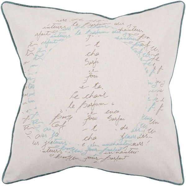 Surya L 22 X W 22 Poly Fill Square Cotton & Fabric Pillow Kit JS-050 JS050-2222P