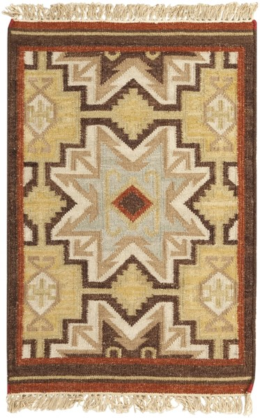 Jewel Tone Ii Contemporary Beige Rust Olive Fabric Rectangle Rug JEWEL-TONE-II-DCR-BNDL