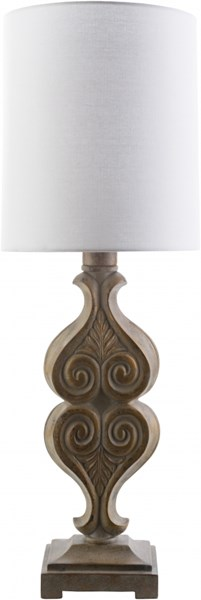 Keanu Oxidized Metal White Resin Polyester Table Lamp - 10x29 KAN912-TBL