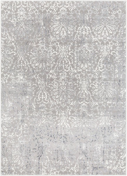 Surya Katmandu Charcoal Light Gray White Polyester Area Rug - 36x24 KAT2302-23