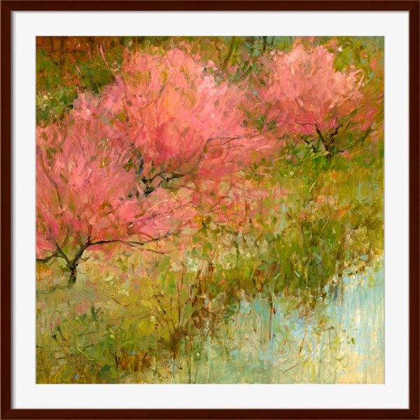 Surya Eternal Paper Spring Orchard I Wall Art - 18x18 KC282A001-1818