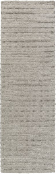 Kindred Contemporary Gray Viscose Wool Striped Area Rug (L 96 X W 30) KDD3001-268