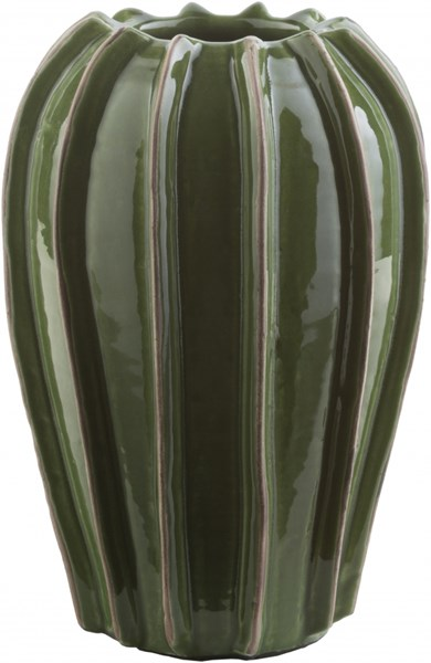 Kealoha Contemporary Forest Olive Ceramic Table Vases 14235-VAR1