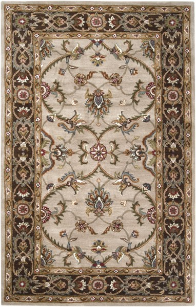 Kensington Burgundy Gray Beige Wool Area Rug - 60 x 93 KEN1021-579