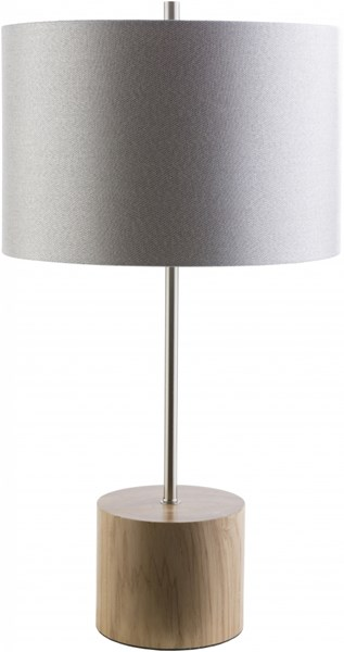Kingsley Contemporary Natural Light Gray Wood Polyester Table Lamp KGY511-TBL