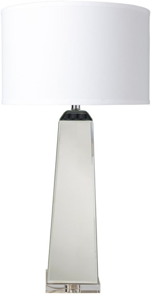 Surya Kitano White Mirror Table Lamp - 17x32.75 KIT-100