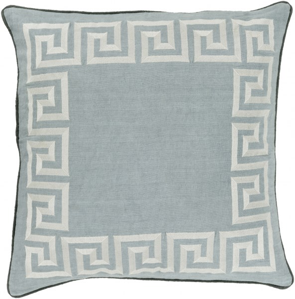 Key Light Gray Moss Poly Linen Throw Pillow - 22x22x5 KLD005-2222P