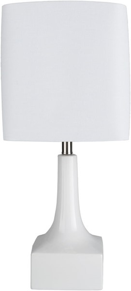 Surya Kramer White Ceramic Table Lamp - 11x26 KMR-001