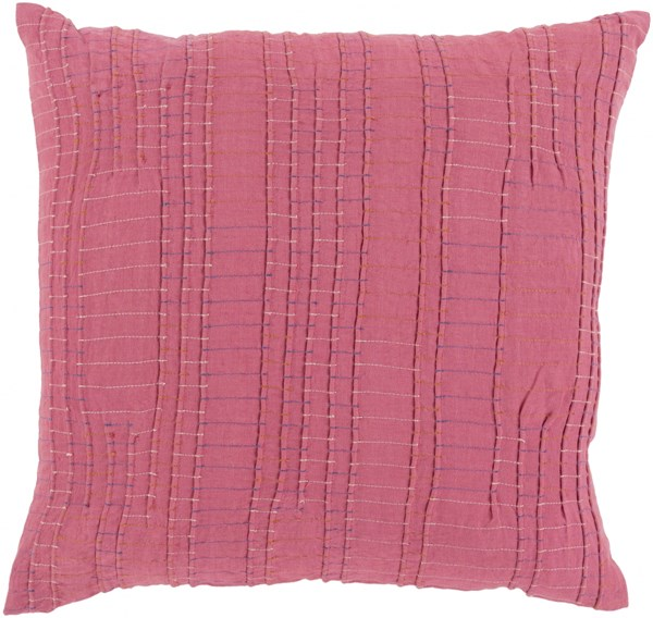 Keaton Pillow with Poly Fill in Cherry - 18 x 18 x 4 KN002-1818P