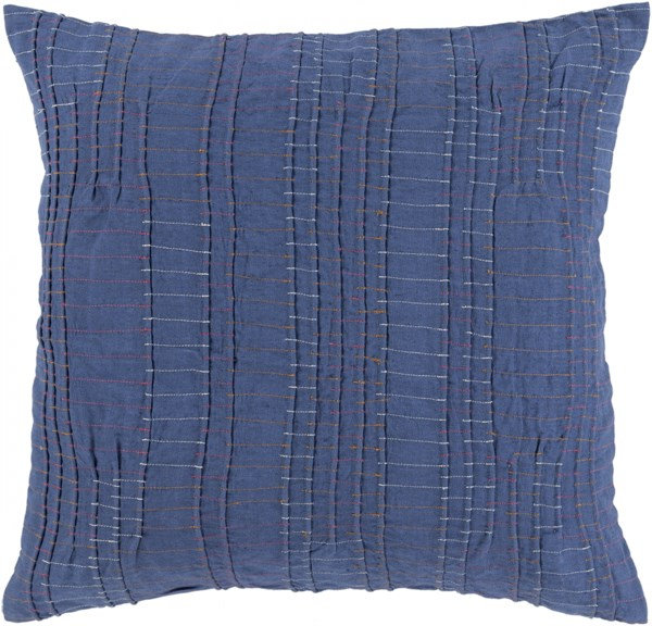Keaton Pillow with Down Fill in Cobalt - 20 x 20 x 5 KN003-2020D