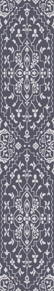 Kinnara Navy Sky Blue Wool Viscose Runner (L 96 X W 30) KNA6002-268