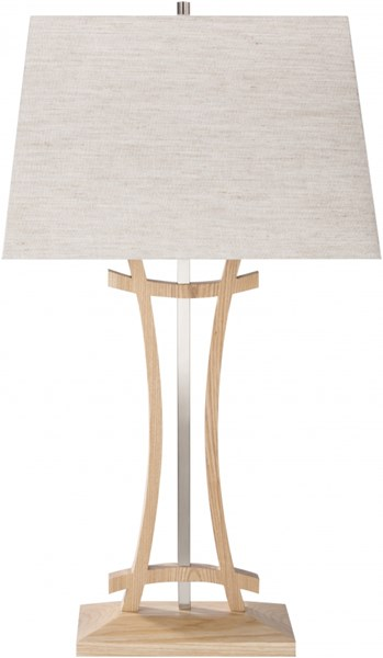 Knox Contemporary Ashtree Ivory Wood Fabric Lamp KNOX-DCR-BNDL