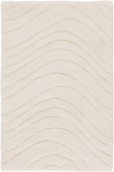Kinetic Contemporary Ivory Wool Area Rug 1390-VAR1