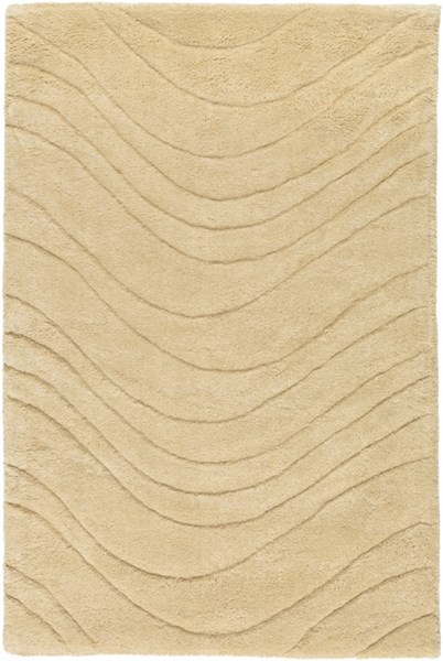 Kinetic Contemporary Gold Fabric Rectangle Area Rug KNT3108-23
