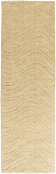 Kinetic Contemporary Gold Fabric Hand Woven Runner KNT3108-268