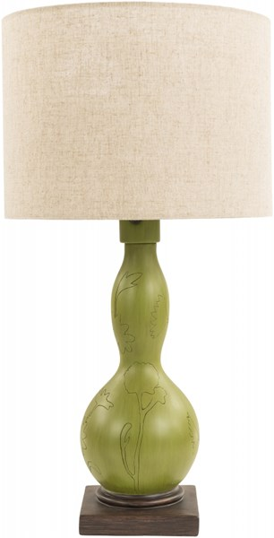 Koa Green Resin Fabric Table Lamp - 14x28 KOA276-TBL