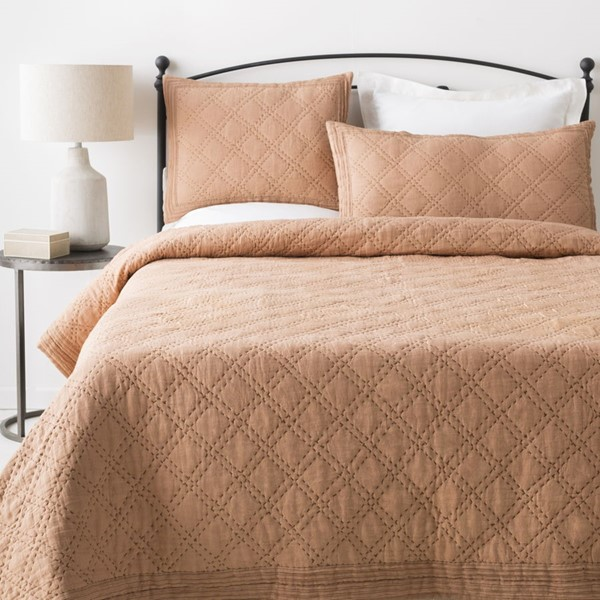 Surya Kojo Camel Dark Brown King CA Duvet Set KOJO2002-KSET