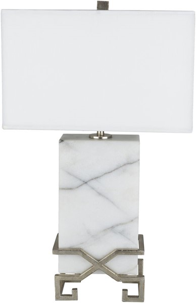 Surya Kerrigan White Marble Table Lamp - 16x26.75 KRR-001