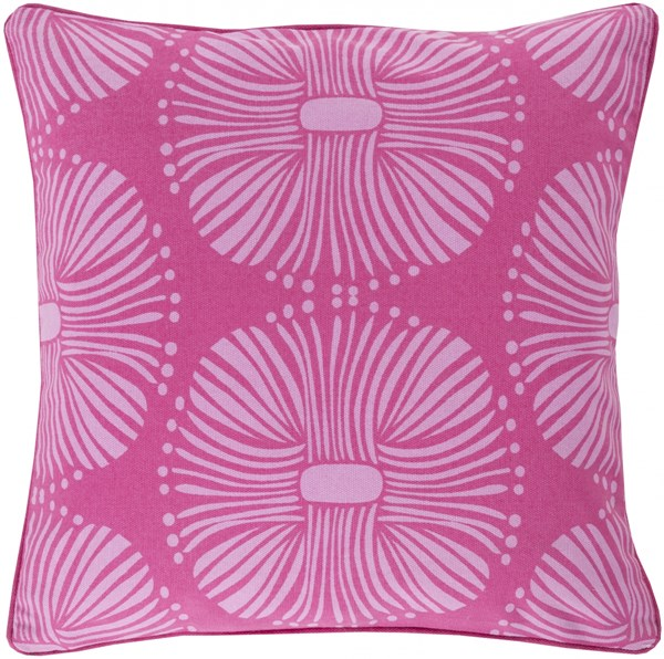 Burst Hot Pink Carnation Poly Cotton Throw Pillow - 22x22x5 KSB003-2222P