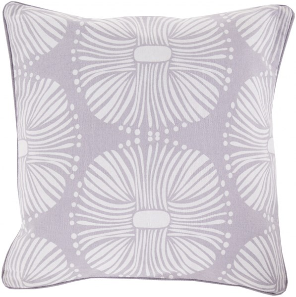 Burst Olive Light Gray Poly Cotton Throw Pillow - 22x22x5 KSB007-2222P