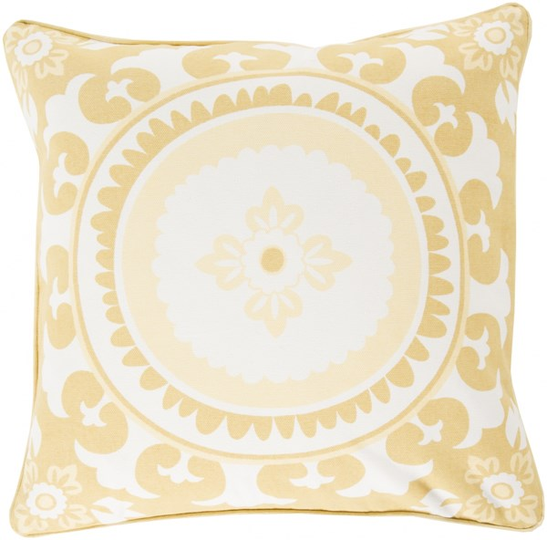 Celestial Butter Lime Ivory Poly Cotton Throw Pillow - 20x20x5 KSC002-2020P