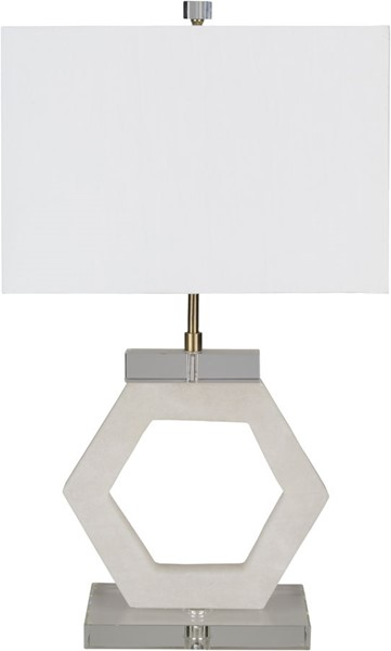 Surya Kinsey White Stone Table Lamp - 16x28 KSE-001