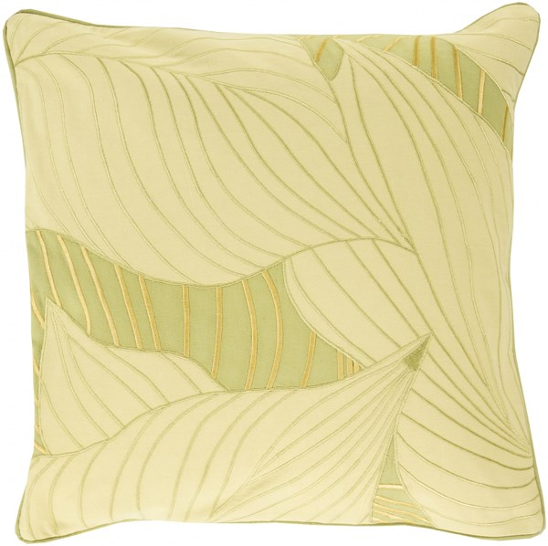 Hosta Butter Olive Down Cotton Throw Pillow - 20x20x5 KSH003-2020D