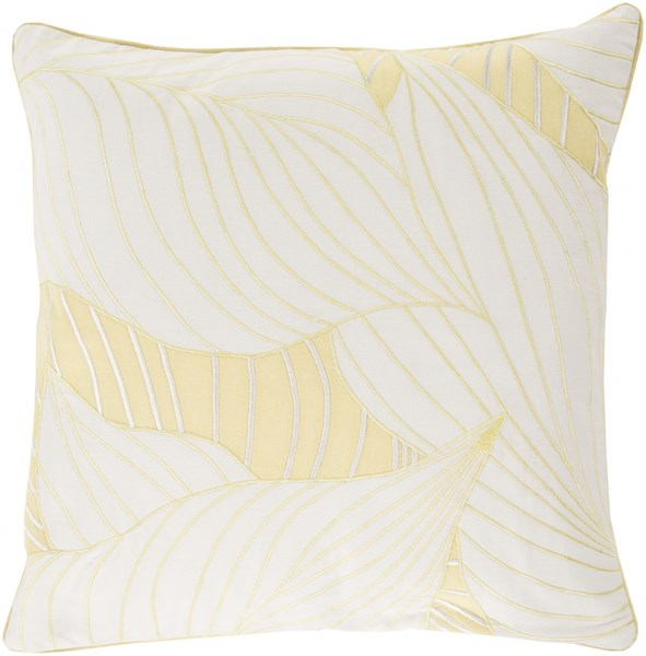 Hosta Ivory Butter Down Cotton Throw Pillow - 22x22x5 KSH006-2222D